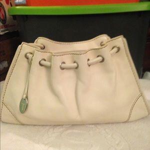 Preloved Tod's cream leather handbag
